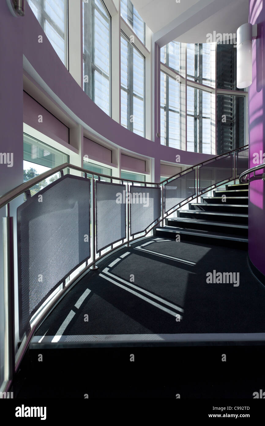 curved staircase and windows of the Eastpoint Centre Southampton - Stock Image