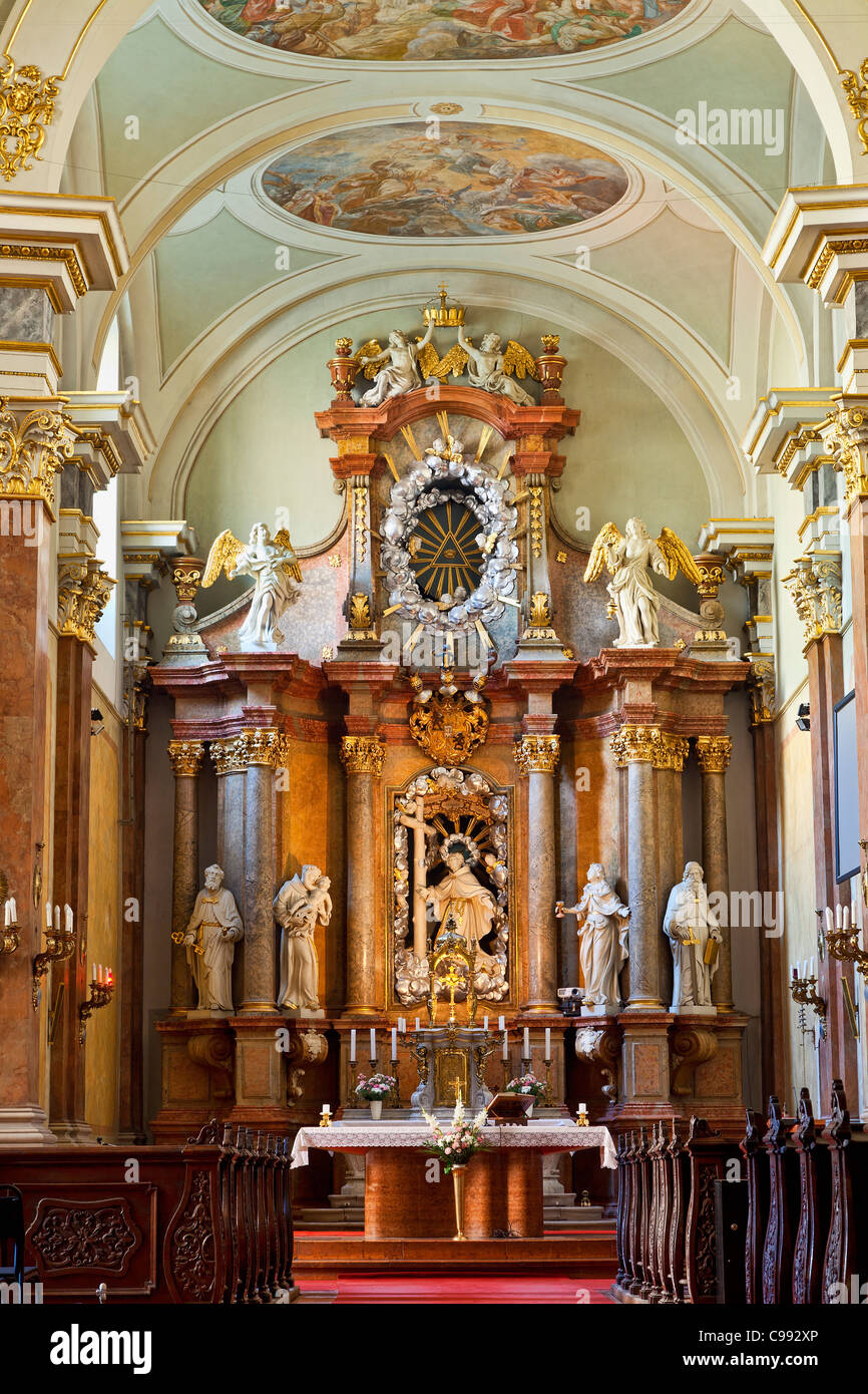 Budapest, Franciscan Church of Pest - Stock Image