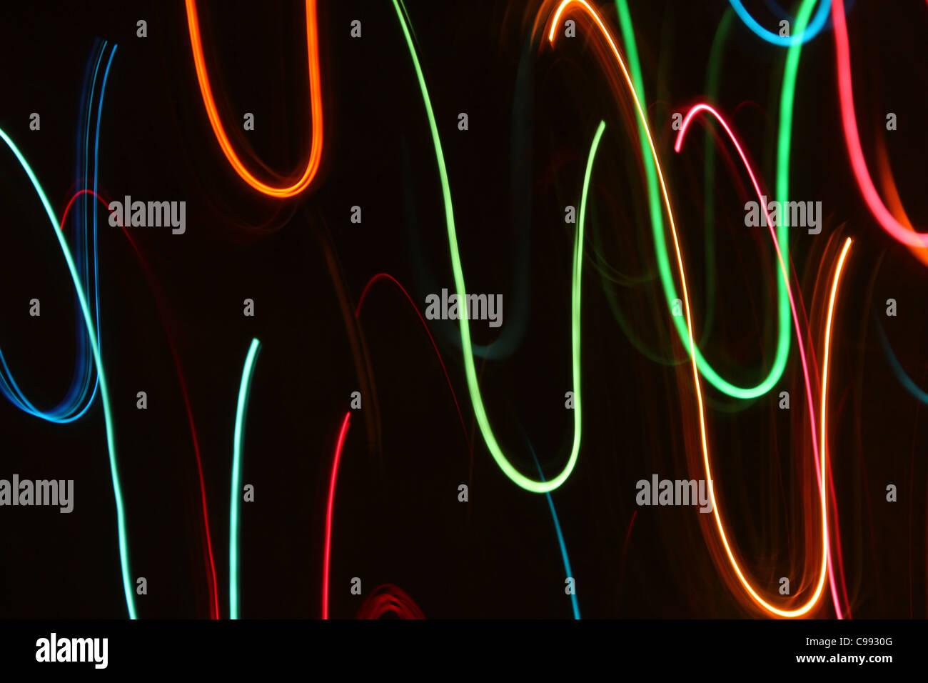 Abstract Christmas lights Stock Photo