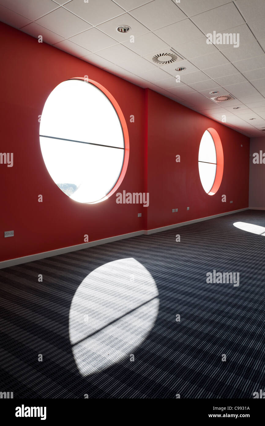feature round windows of Eastpoint Centre Southampton Stock Photo