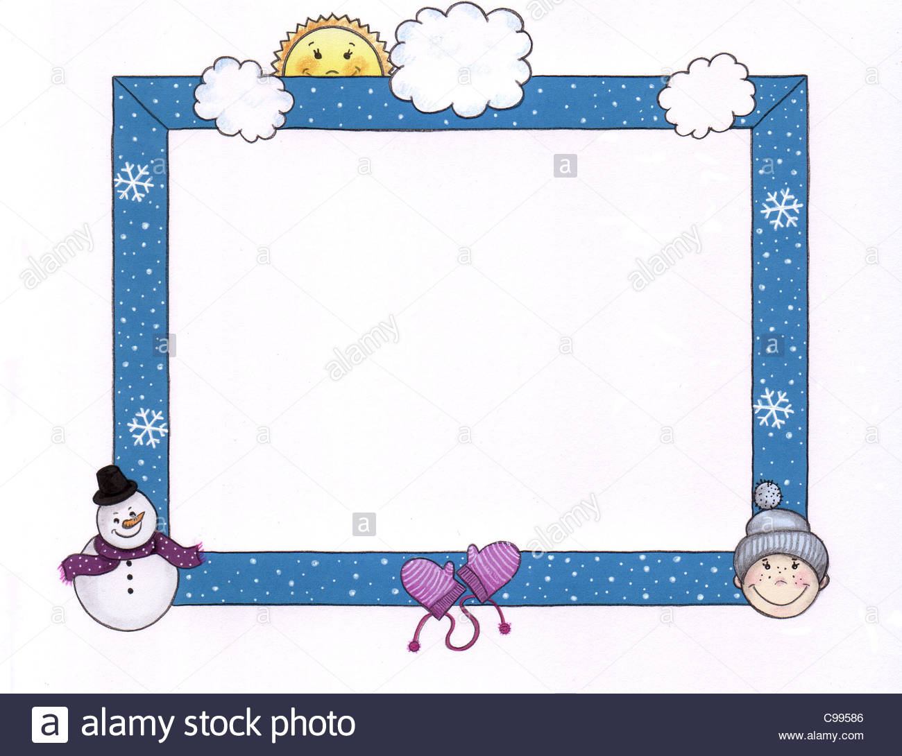 Series photo frames baby winter 7 Stock Photo: 40154358 - Alamy