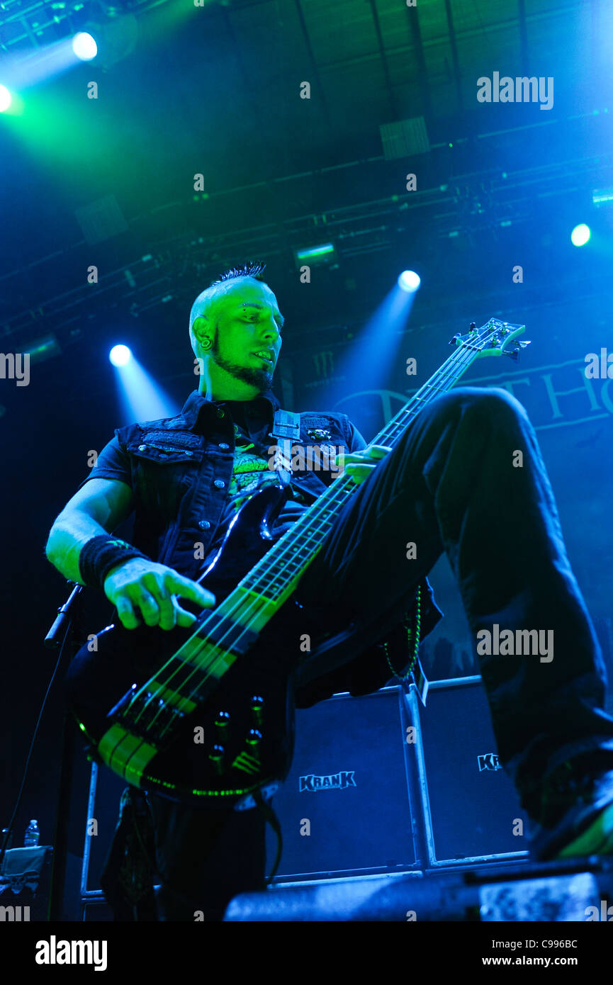 Travis Johnson of In This Moment performs on stage at Portland Memorial Coliseum, Portland, Oregon, USA  on 3/15/2011. - Stock Image