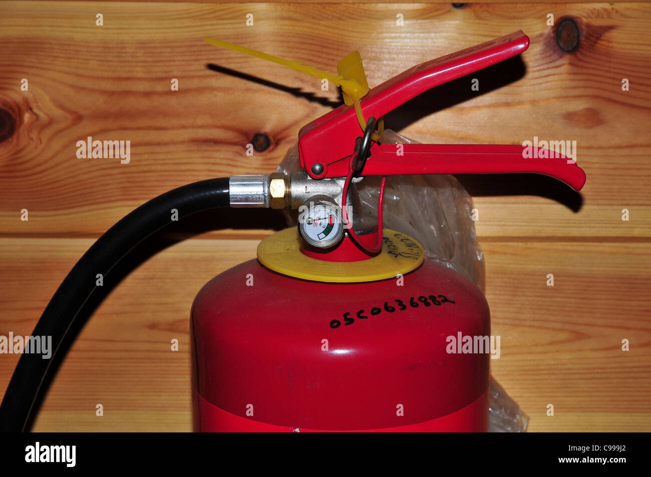Domestic Fire Extinguisher - Stock Image