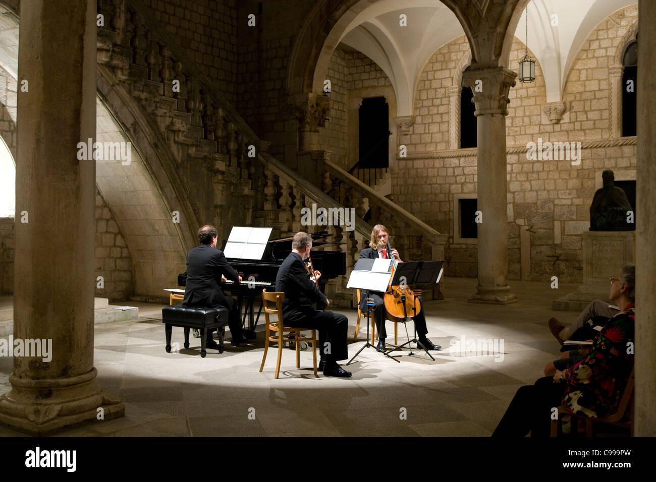 Dubrovnik: Rector's Palace music recital - Stock Image