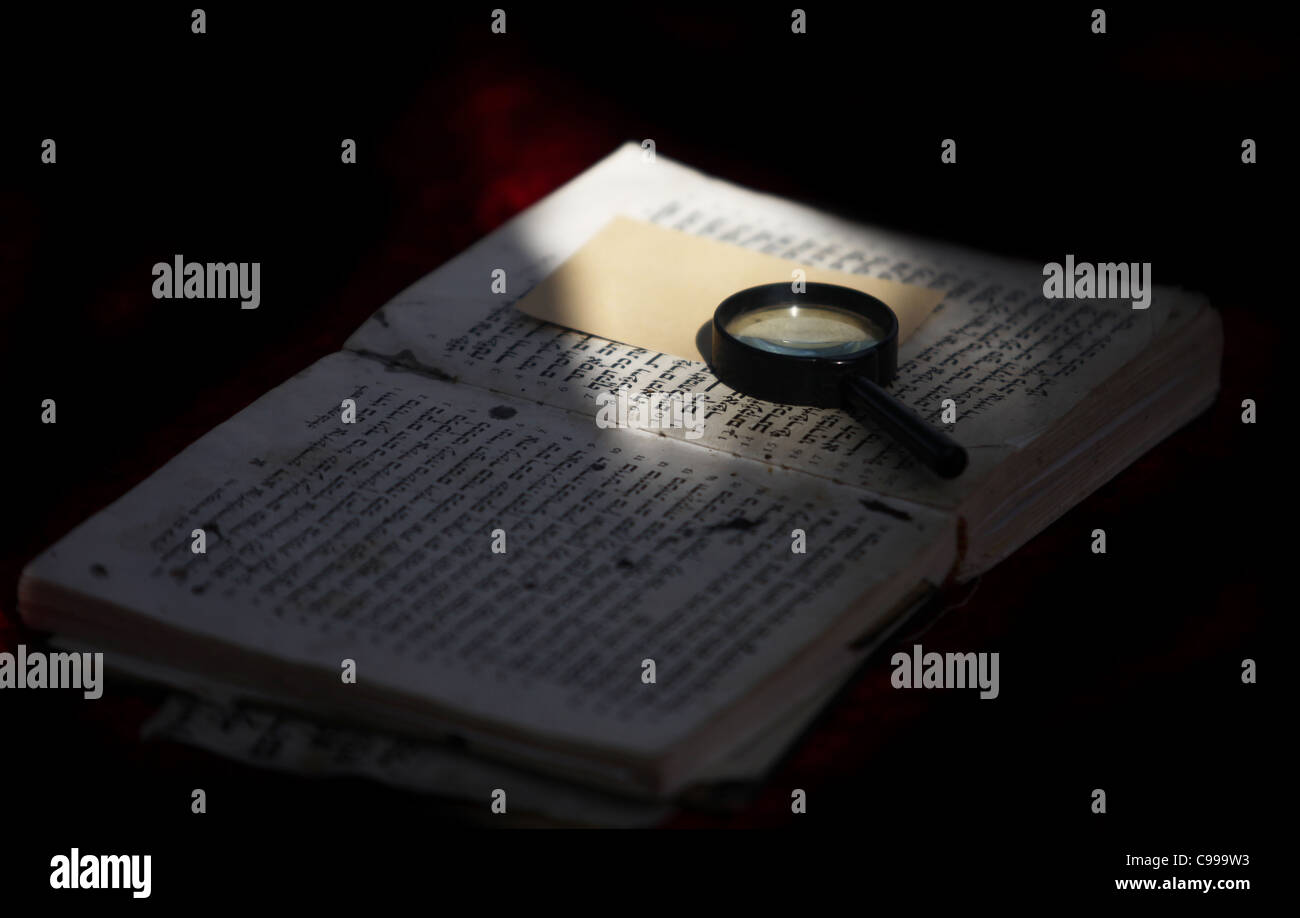 torus sacred book of the Jewish people of faith is an open Stock Photo