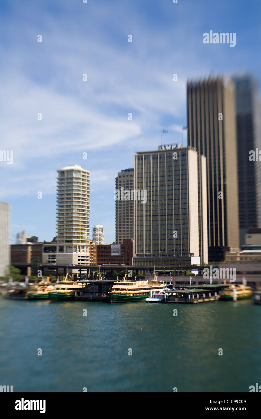 Ferry terminal at Circular Quay. Sydney, New South Wales, Australia - Stock Image