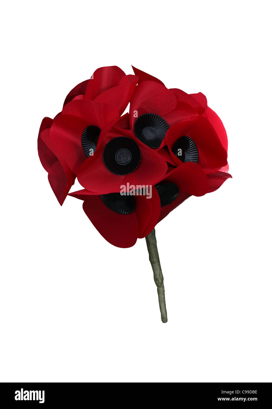 Cut out of a bunch of poppies - Stock Image