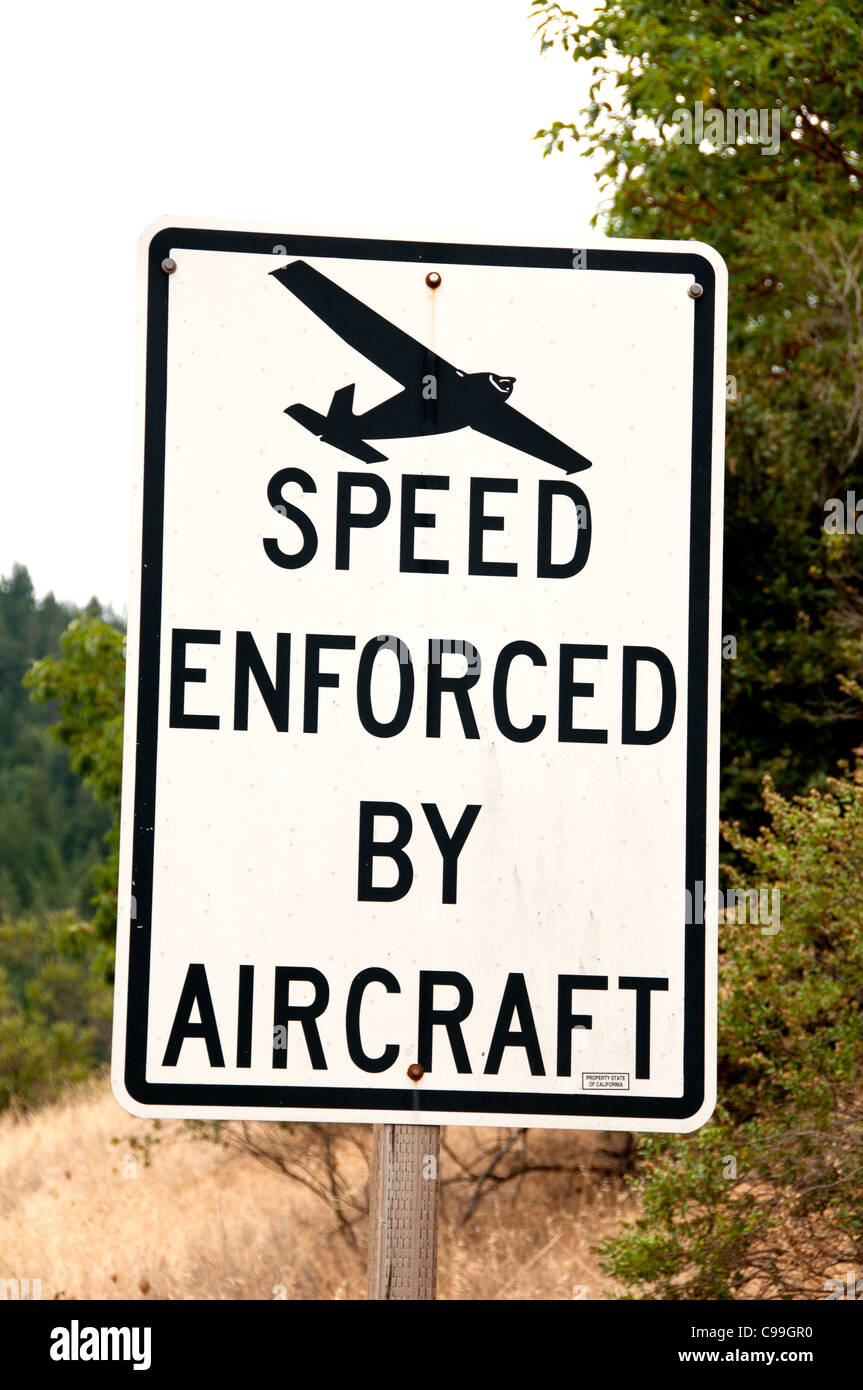 Speed Enforced by Aircraft Traffic United States - Stock Image