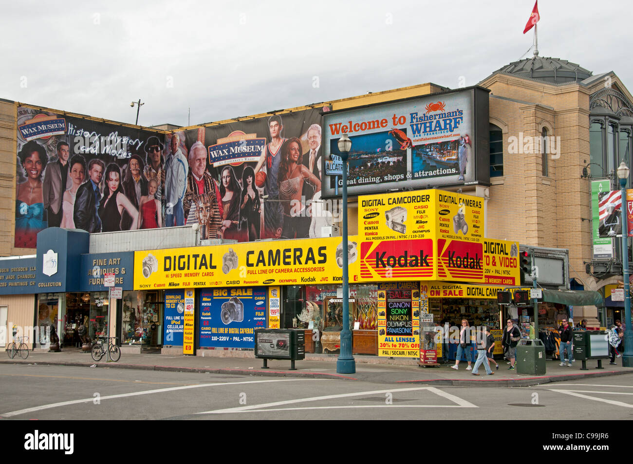 Kodak Digital Camera Cameras Billboard Sign Photo Fishermans Fisherman's Wharf San Francisco California - Stock Image