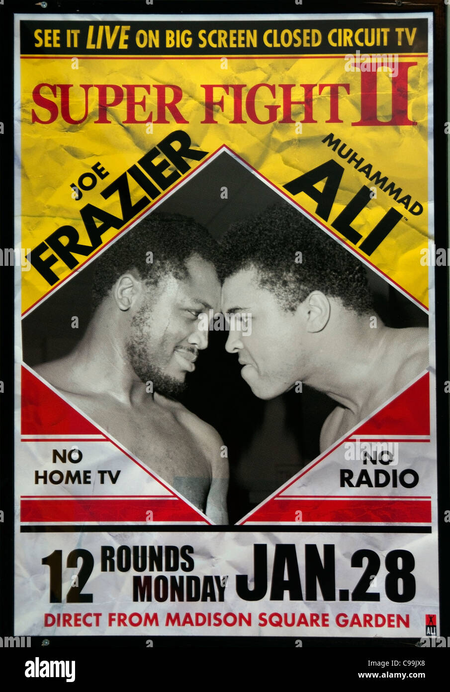 Boxing  March 8 1971 New York The Fight of the Century Joe Frazier Muhammad Ali  Madison Garden New York - Stock Image