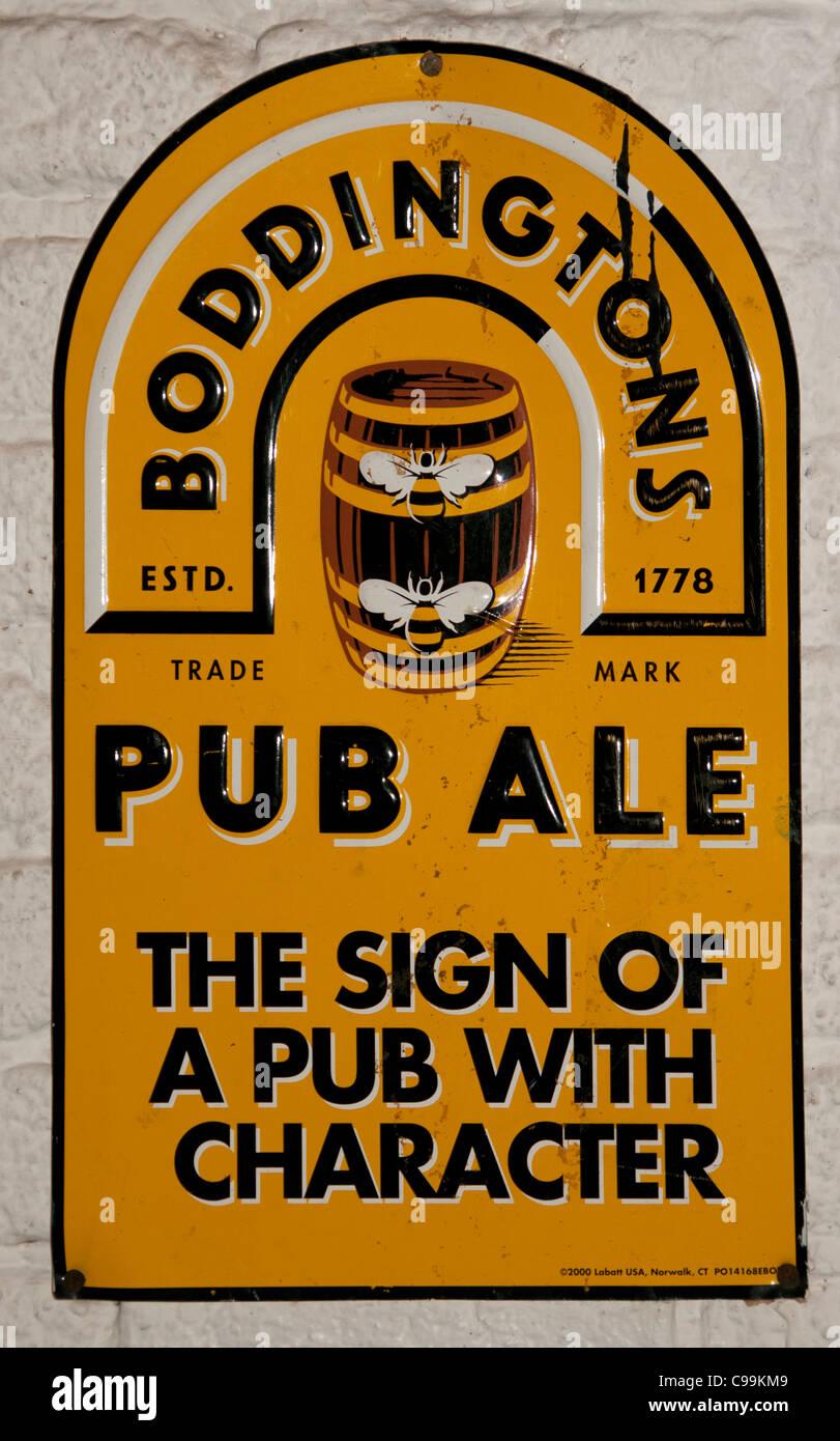 Boddingtons Pub Ale Beer Cafe Bar Bitter Brewery - Stock Image
