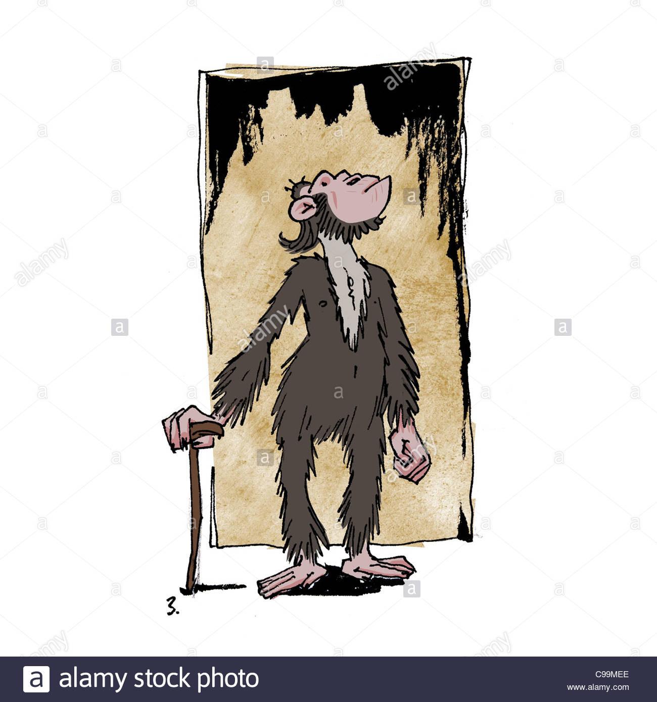 monkey STOCK human Aristocrat - Stock Image