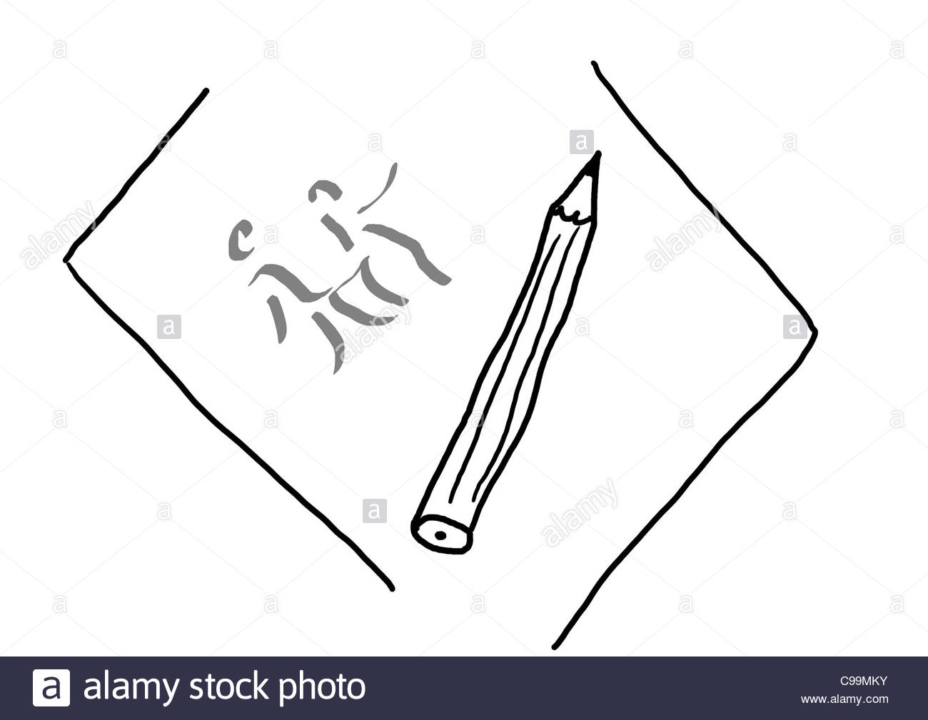 drawing paper black and white stock photos & images - alamy