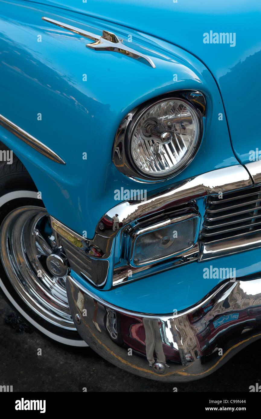 Oldsmobile 1955 Havana Cuba - Stock Image