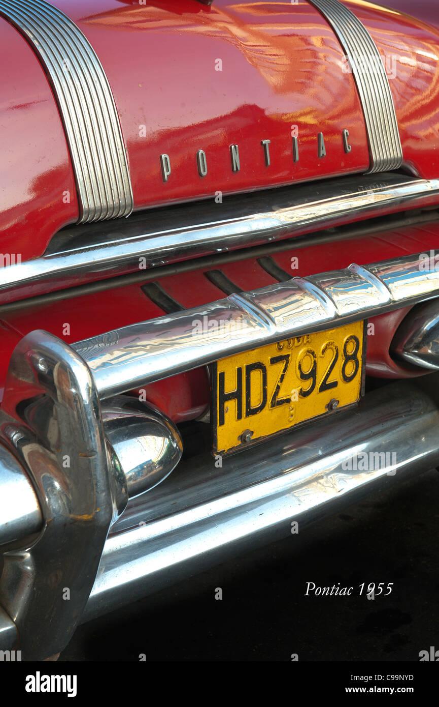 Pontiac 1955 Havana Cuba - Stock Image
