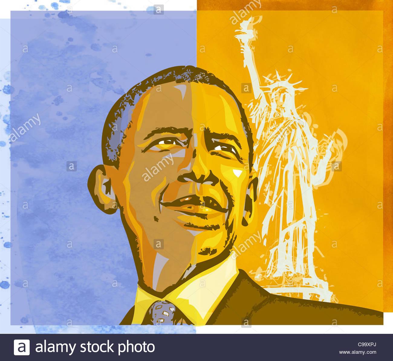 Barack Obama 4 - Stock Image