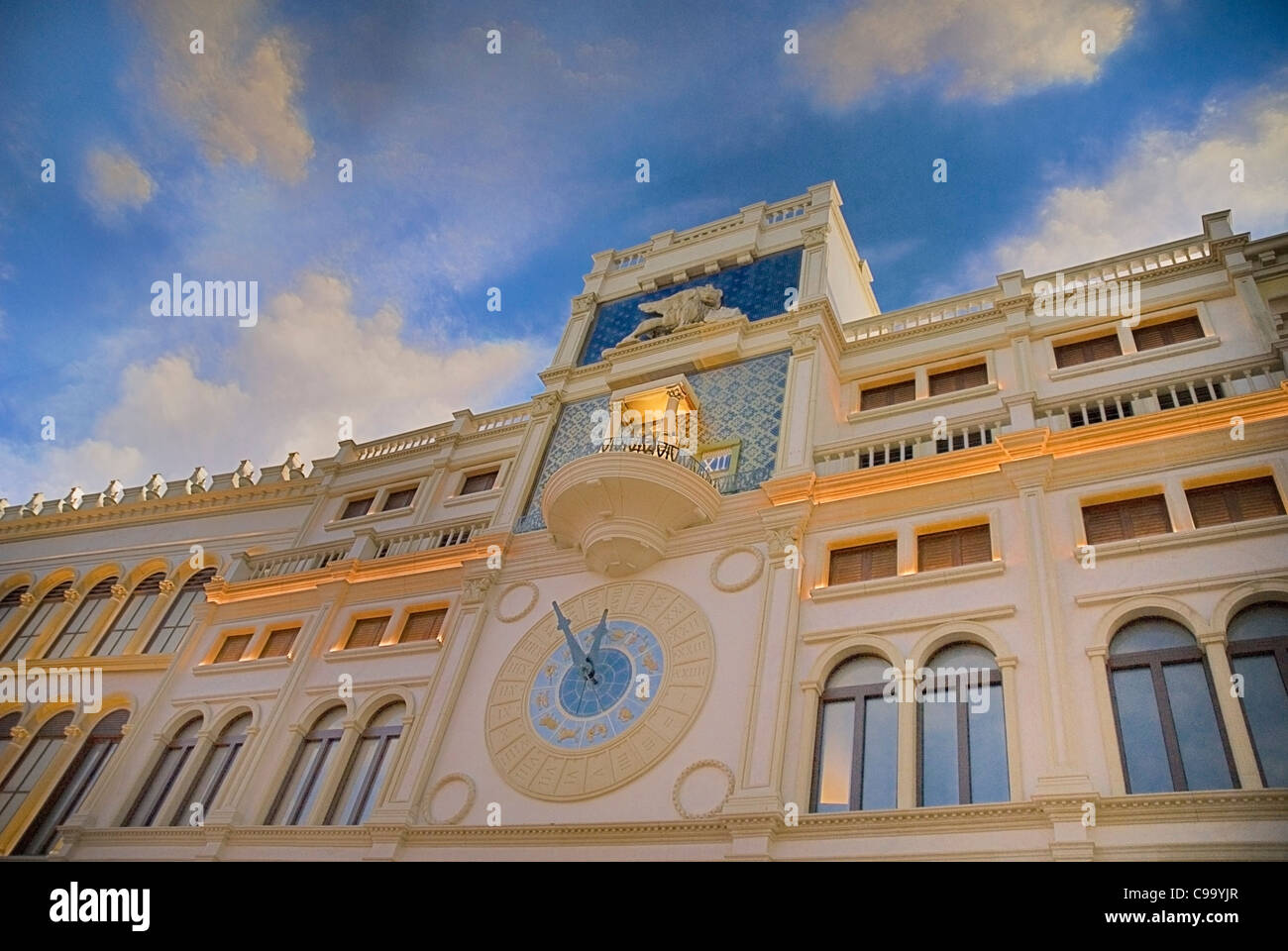 USA, Nevada, Las Vegas, The Strip, fake sky detail inside the Venetian hotel and casino. - Stock Image