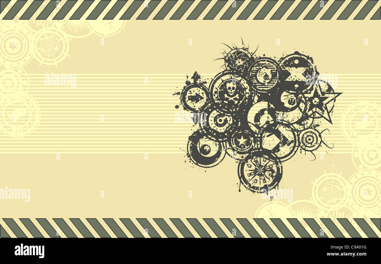 A  background  done in a grunge illustration style in a standard lcd wide-screen aspect ratio. - Stock Image