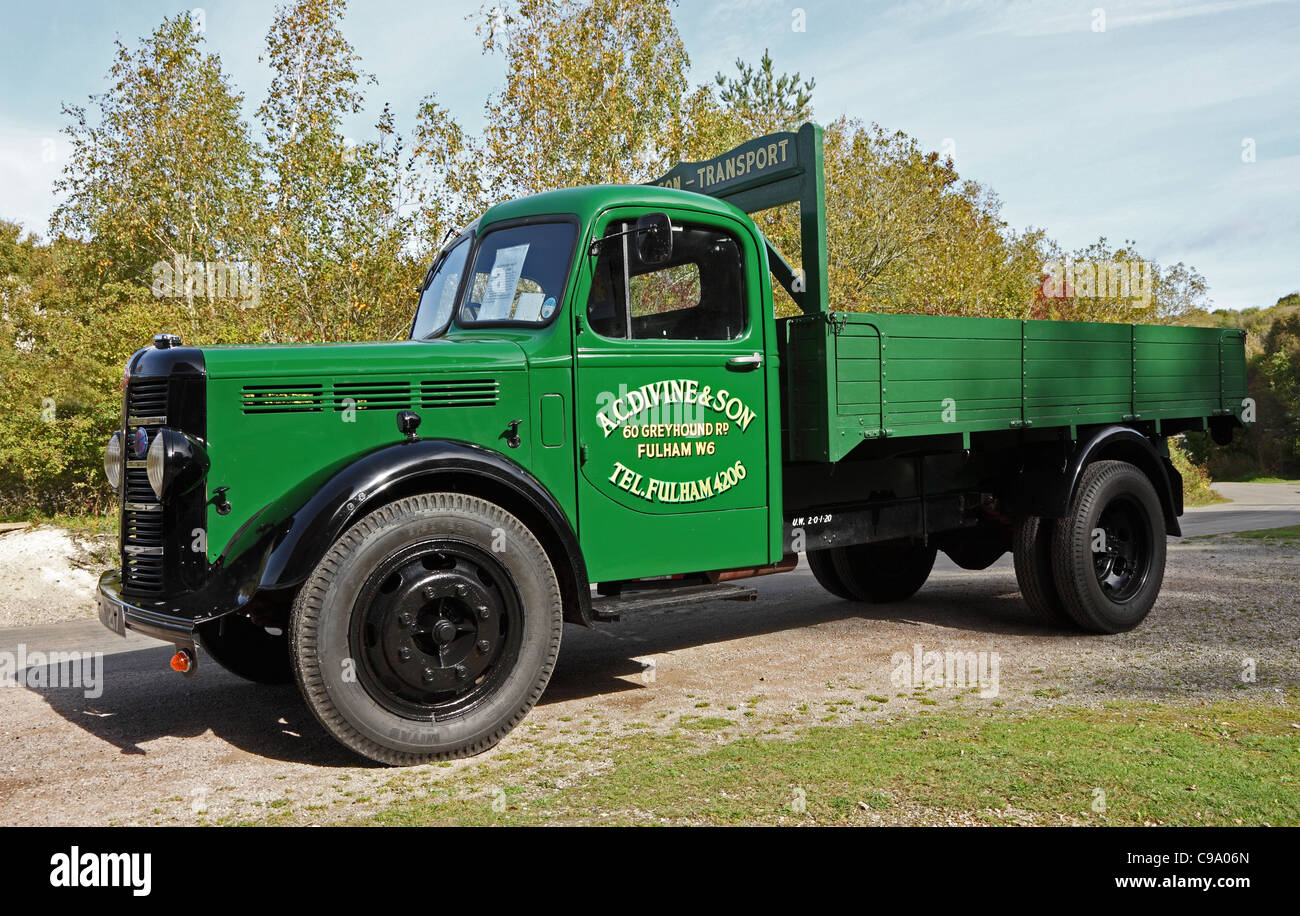 Bedford M type dropside drop side truck West Sussex - Stock Image