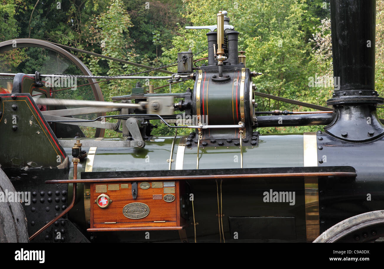 Boiler and pistons Burrell traction engine West Sussex Stock Photo