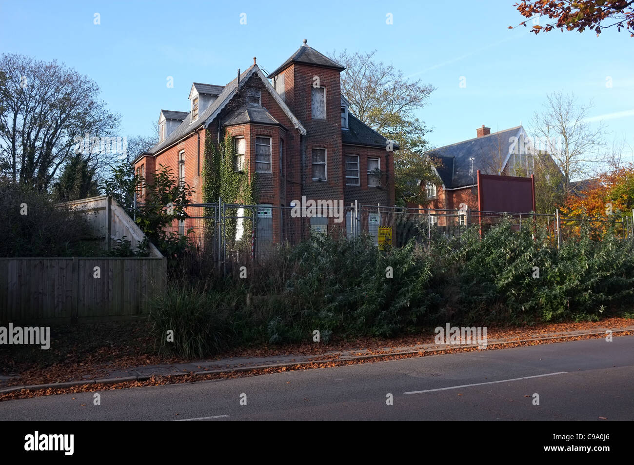 A  Run down derelict house in winchester UK ready for development - Stock Image
