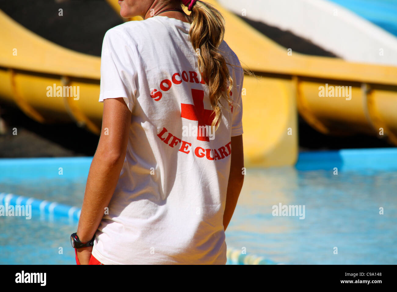 Lifeguard in water park