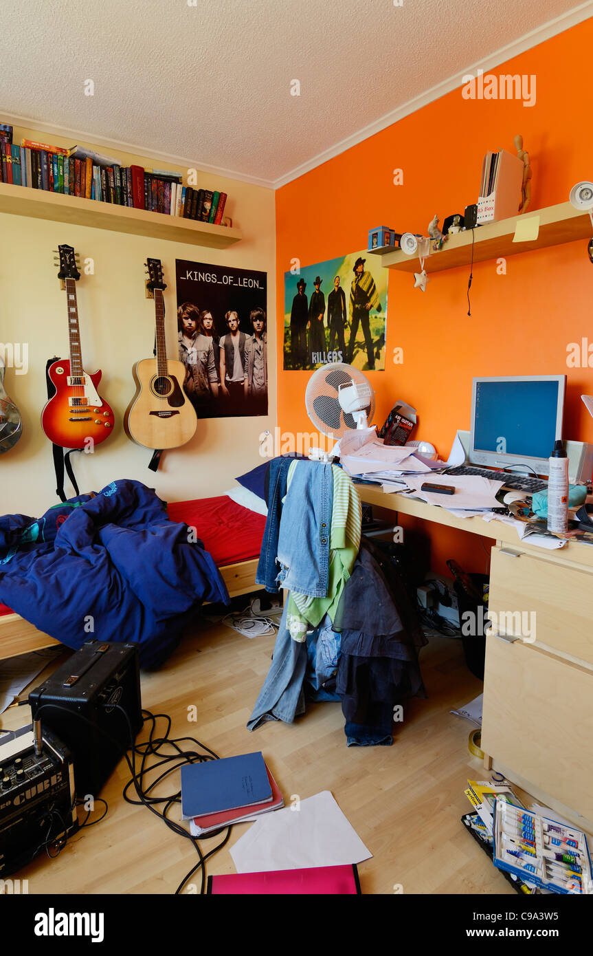 image teenagers bedroom. An Untidy And Brightly Coloured Teenager\u0027s Bedroom. - Stock Image Teenagers Bedroom