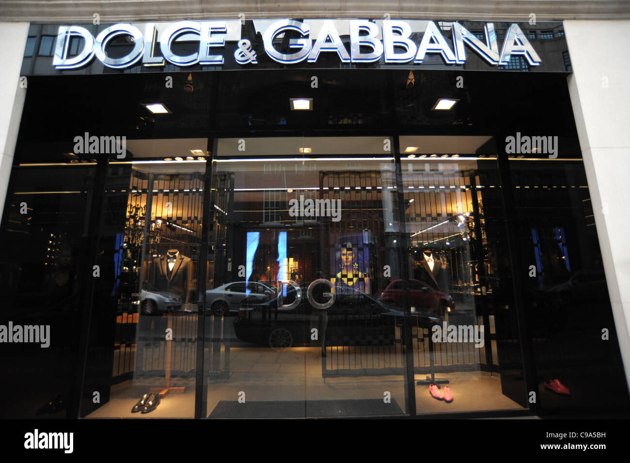 Exterior shot of the Dolce and Gabbana store on Bond Street London England 2011 - Image Copyright Ben Pruchnie 2011 - Stock Image