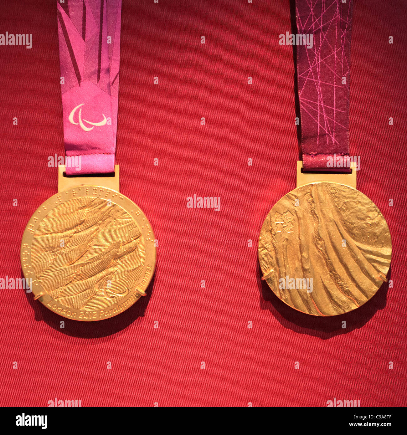 London 2012 Paralympic Gold Medals - Stock Image