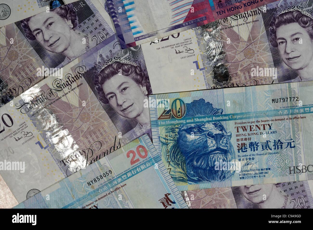 british pounds and hong kong dollars banknotes Stock Photo: 40179677 - Alamy