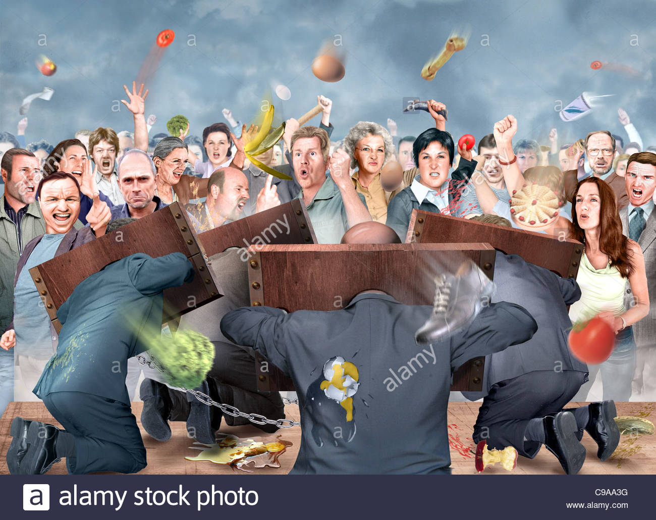 policy pillory politically political Czech political political political - Stock Image