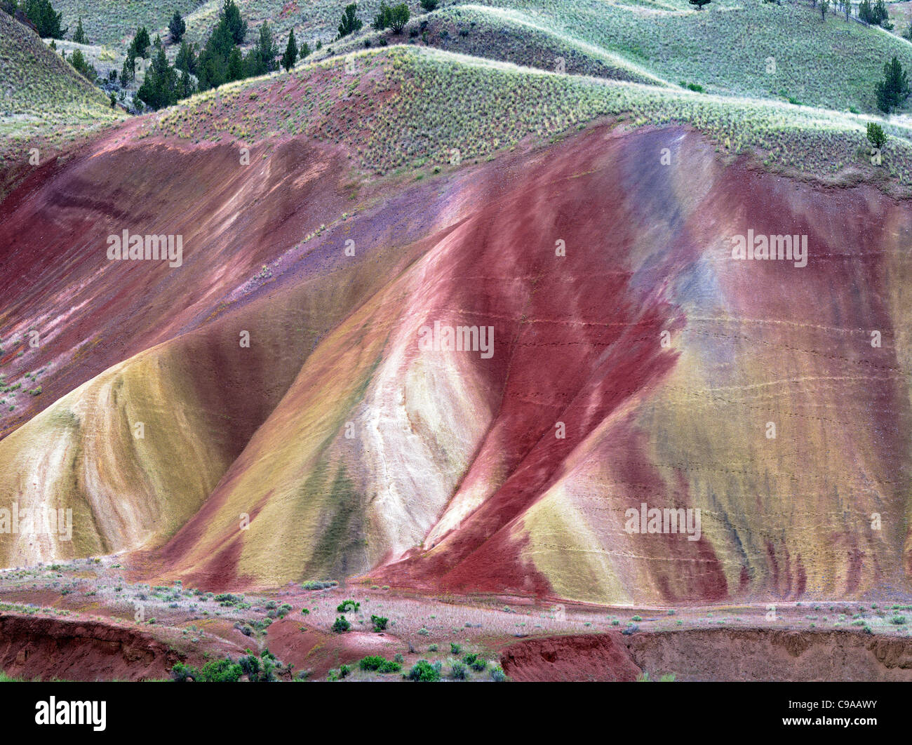 Painted hills. John Day Foissil Beds National Monument. Oregon - Stock Image