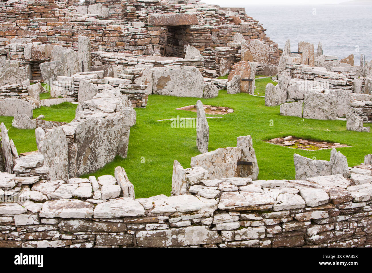 The Broch of Gurness is the best preserved Broch in Orkney, on mainland island. - Stock Image