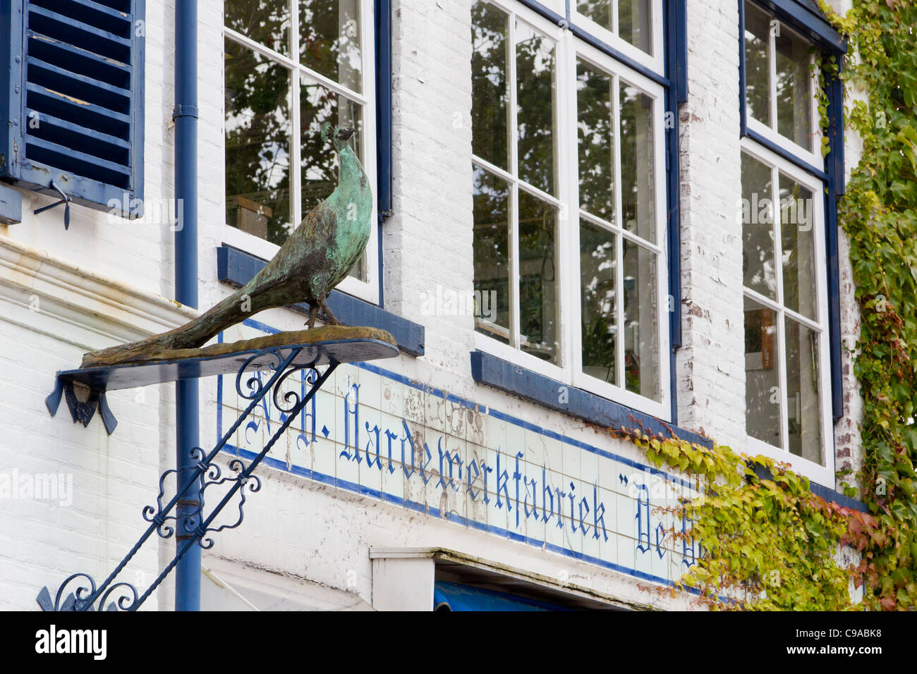 Pottery Delftse Pauw, one of the manufacturers of traditional Delft pottery, The Netherlands - Stock Image