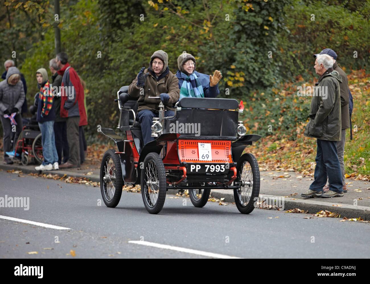 1900 De Dion Bouton in the 2011 London Brighton Veteran car run - Stock Image