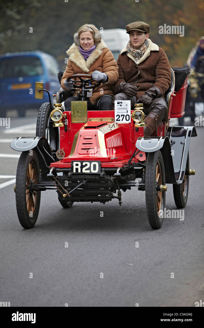 1903 De Dion Bouton in the 2011 London Brighton Veteran car run - Stock Image