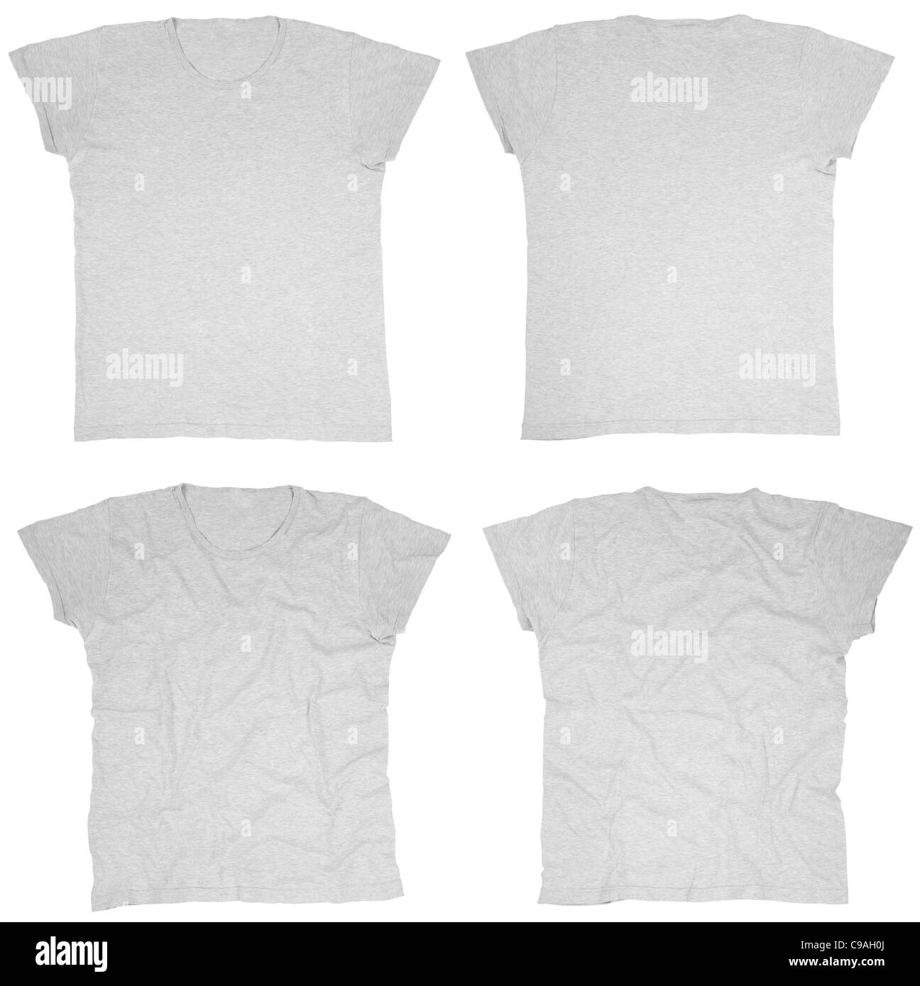 Blank Gray T Shirts Front And Back