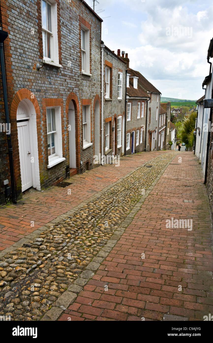 Keere street in Lewes, East Sussex, UK Stock Photo