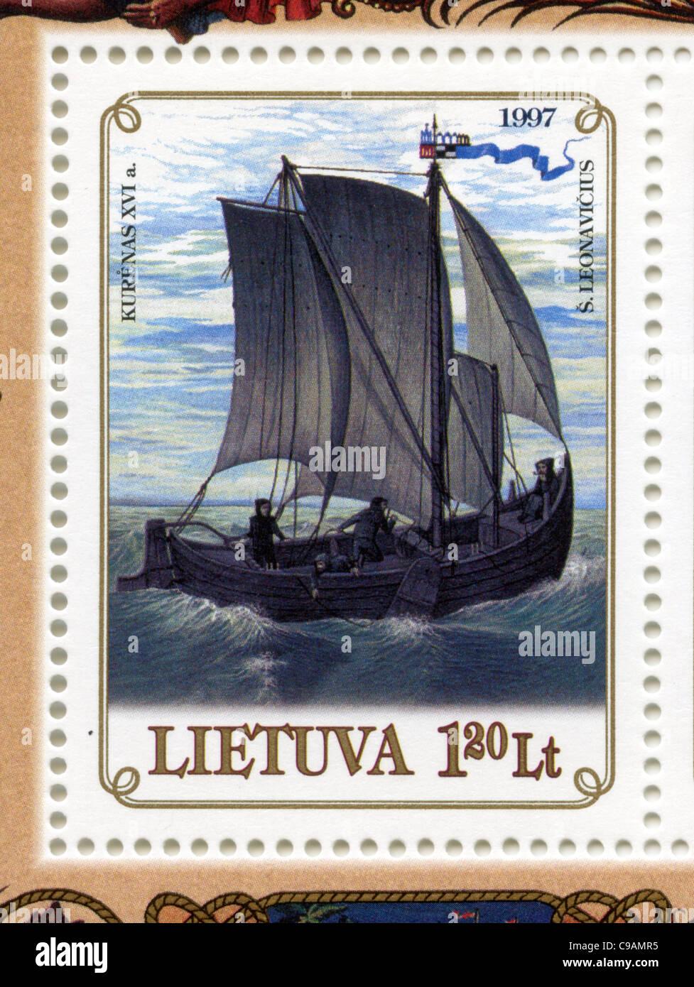 Lithuania postage stamp - Stock Image