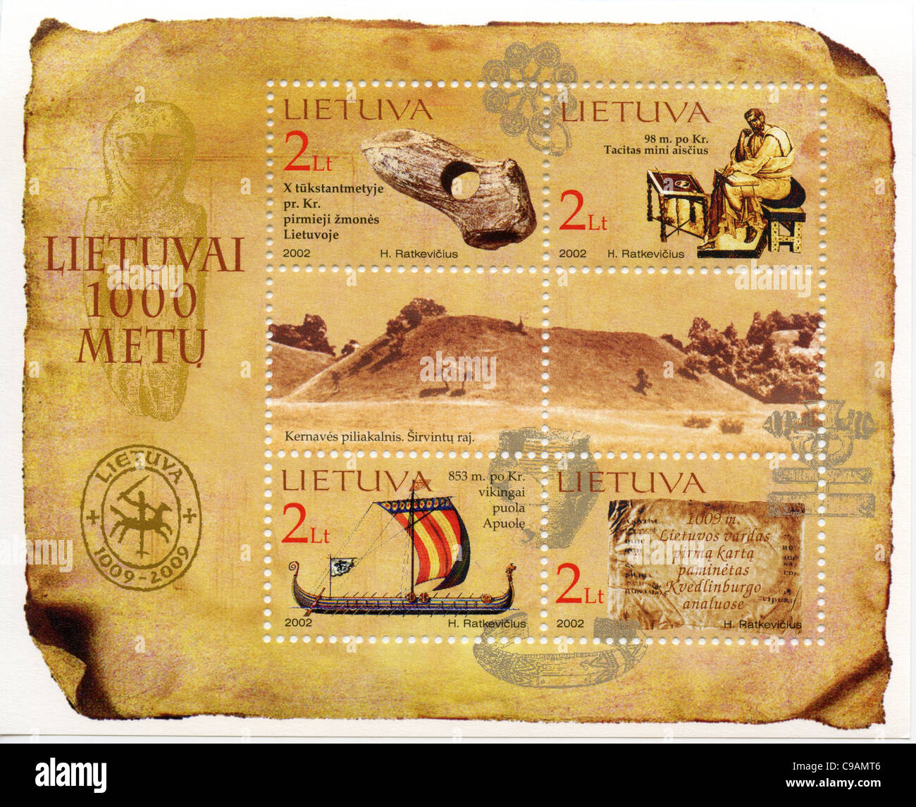 Lithuania postage stamps - Stock Image