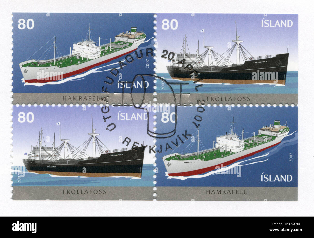 Iceland postage stamps - Stock Image