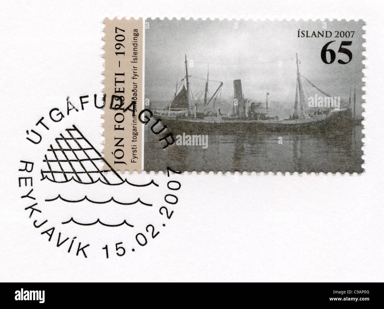 Iceland postage stamp - Stock Image