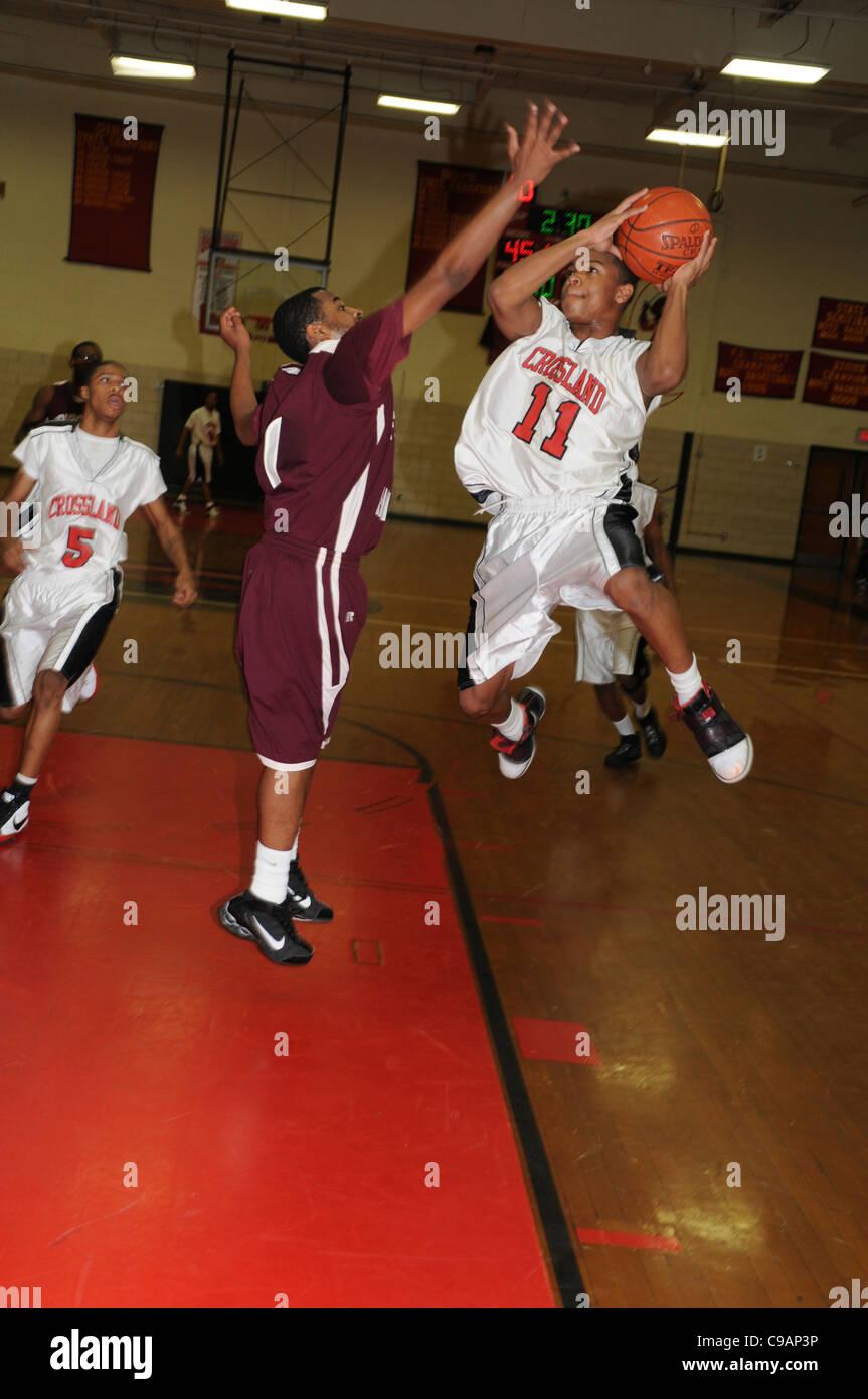 Boys high school basketball Brandywine, Maryland - Stock Image