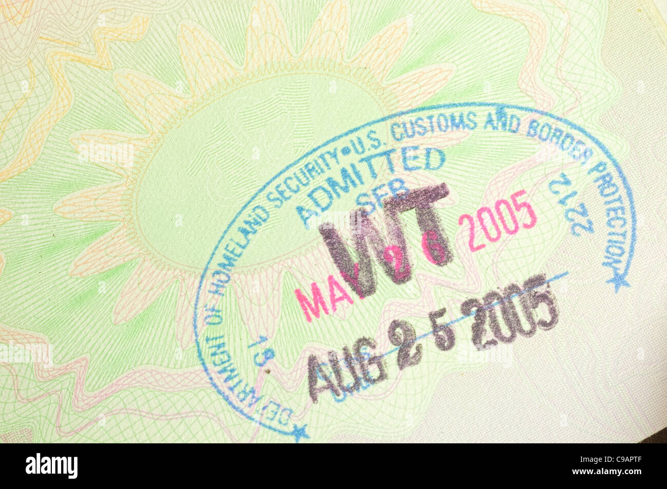 homeland security stamp - Stock Image