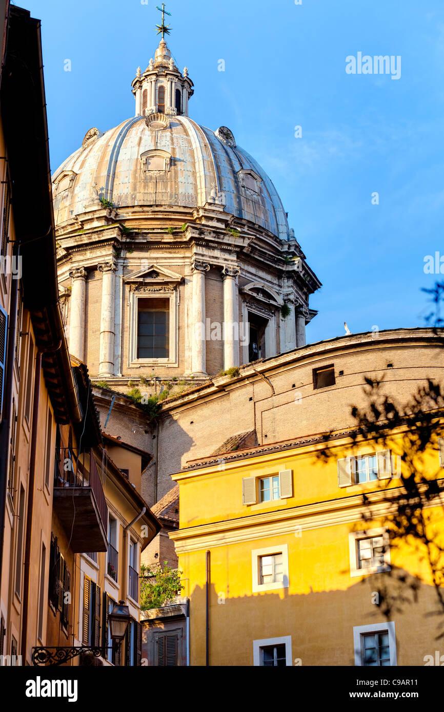 Dome of Basilica Church Sant Andrea Della Valle. Rome, Italy - Stock Image
