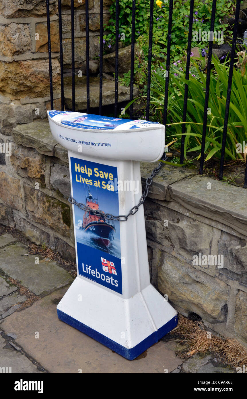 lifeboat institution collection box - Stock Image