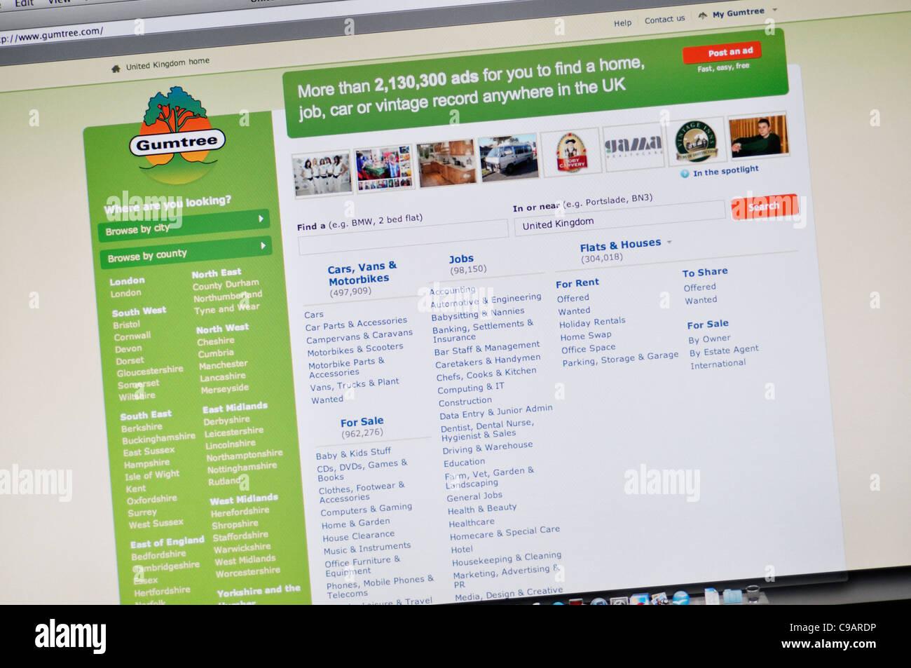 Gumtree Website Stock Photo Alamy