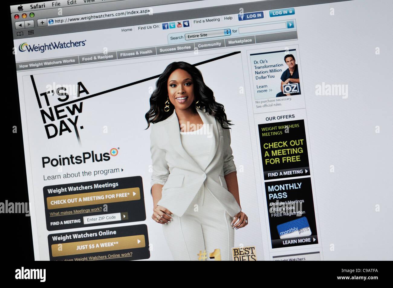 Weightwatchers website - Stock Image