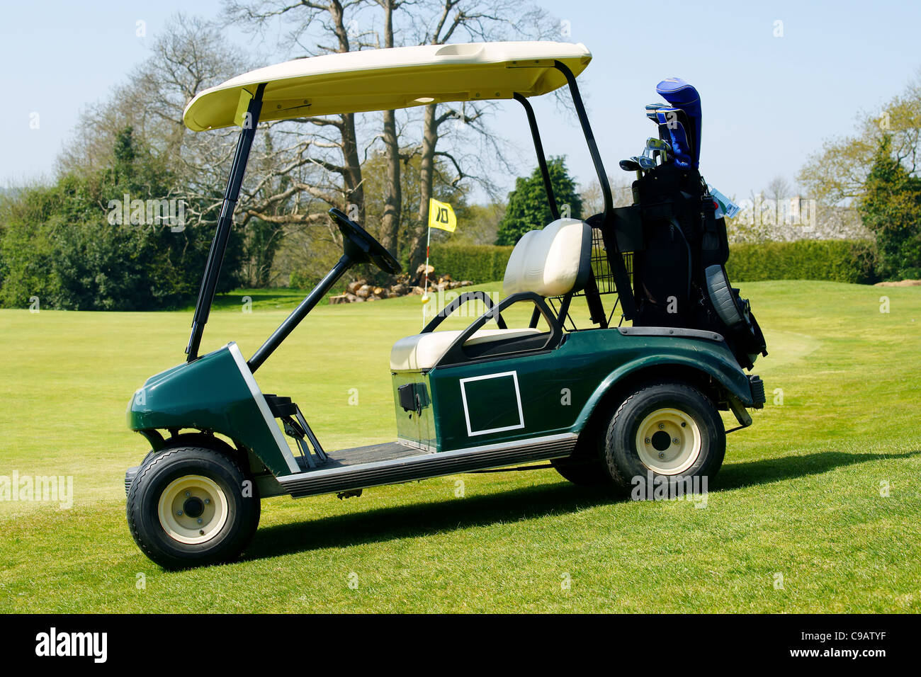 Golf Cart Stock Photos & Golf Cart Stock Images - Alamy Upholstery For Golf Carts Html on upholstery for trucks, upholstery for vehicles, upholstery for tractors,