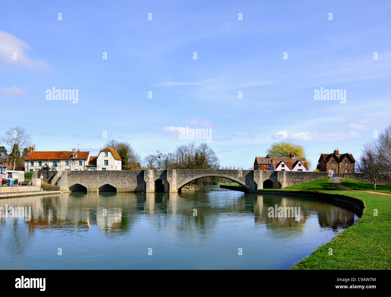 1416 Abingdon Bridge on River Thames, Oxfordshire - Stock Image